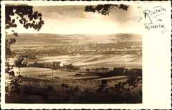 Foto Ak Rinteln im Wesertal, Stadtpanorama, Felder, Wald, Gebäude
