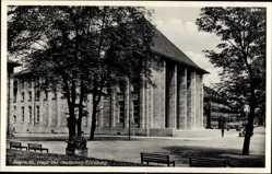 Postcard Bayreuth in Oberfranken, Blick auf das Haus der deutschen Erziehung, Platz