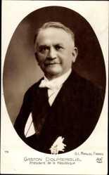 Postcard Gaston Doumergue, Président de la République, Portrait