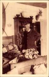 Postcard Saint Vincent sur Jard, Bélesbat, Chambre du Président Clemenceau