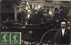 Foto Ak Président Raymond Poincaré, Pferdekutsche, General