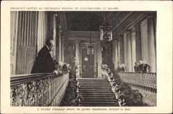 Postcard Luxemburg, Präsident Wilson, Staatsbesuch 20 01 1919, Excalier d'Honneur
