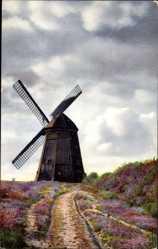 Ak Niederdeutsche Landschaft, Windmühle, Nenke und Ostermaier 1323