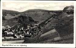 Postcard Mayschoß im Kreis Ahrweiler, Ahrtal mit der Saffenburg