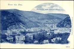 Postcard Bad Ems im Rhein Lahn Kreis, Panorama vom Schweizerhaus