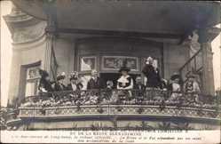 Postcard Reception de Roi de Danmark Christian X et Reine Alexandrine, Poincaré