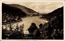 Postcard Heidelberg am Neckar, Hotel PEnsion Haarlass, C. Pirsch, Fluss