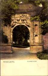 Postcard Heidelberg am Neckar, Wegpartie mit Blick auf das Elisabethtor