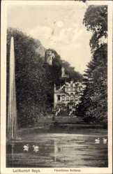 Postcard Sayn Bendorf in Rheinland Pfalz, Blick auf das Fürstliche Schloss, Fontäne