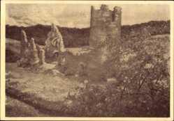 Postcard Morbach in Rheinland Pfalz, Blick auf die Ruine Baldenau, erbaut 1312