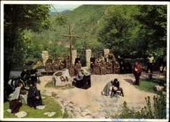 Postcard Thale im Harz, Sommerfestspiele, Harzer Bergtheater, Die hl. Johanna