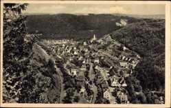 Postcard Oberndorf am Neckar, Totalansicht der Ortschaft, Wald, Berge