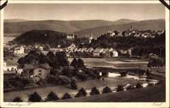 Postcard Arnsberg im Hochsauerlandkreis, Totalansicht der Ortschaft, Felder