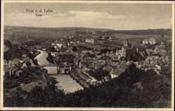 Postcard Diez im Rhein Lahn Kreis Rheinland Pfalz, Totalansicht der Ortschaft