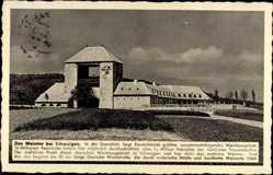 Postcard Schweigen Rechtenbach Kreis Südliche Weinstraße, Blick auf das Weintor