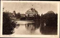 Postcard Travemünde Lübeck Schleswig Holstein, Blick auf das Park Hotel
