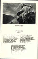 Lied Ak Die Loreley, H. Heine, Loreleyfelsen, Sage