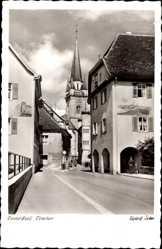 Postcard Radolfzell am Bodensee Landkreis Konstanz, Obertor, Straßenpartie