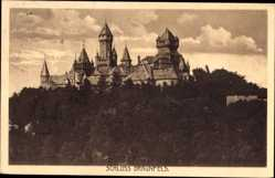 Postcard Braunfels im Lahn Dill Kreis, Ansicht vom Schloss, Türme