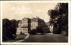 Postcard Calden Hessen, Schloss Wilhelmsthal, Blick von der Parkseite