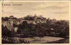 Postcard Bad Bentheim in Niedersachsen, Gesamtansicht mit Burg