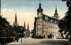 Postcard Oldenburg in Niedersachsen, Großherzogliches Schloss und Lambertikirche