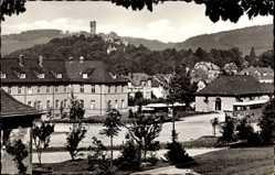 Postcard Königstein im Taunus Hessen, Albertus Magnus Kolleg mit Königsteiner Burg