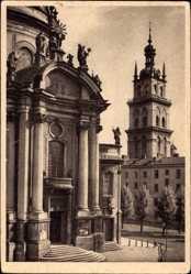 Postcard Lwów Lemberg Ukraine, Dominikaner Kirche, Walachischer Turm
