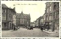 Postcard Halle Flandern Flämisch Brabant, Grote Markt, Grand' Place