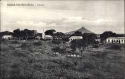 Postcard Omaruru Namibia, Deutsch Süd West Afrika, Kolonialsiedlung, Kirche, Berg