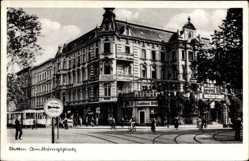 Ak Szczecin Stettin Pommern, Am Königsplatz, Straßenpartie, Konditorei Willi
