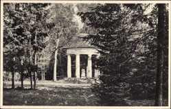 Postcard Pokój Bad Carlsruhe Schlesien, Am Erdmannstein, Pavillon
