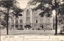Postcard Hamm in Westfalen, Straßenpartie mit Blick auf den Schützenhof