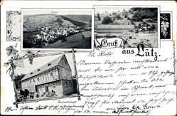 Postcard Lütz Rheinland Pfalz, Gastwirtschaft Zum Moseltal Nicolaus Henrichs