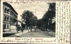 Postcard Ilmenau im Ilm Kreis Thüringen, Blick in die Lindenstraße, Passanten