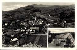 Postcard Dudinghausen Medebach im Hochsauerlandkreis, Gasthaus Frese, Totale
