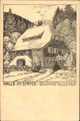 Künstler Ak Vogeler, Willingen Upland in Hessen, Blick auf Haus im Stryck