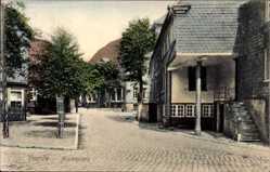 Postcard Voerde Niederrhein, Blick auf den Marktplatz, Häuser, Treppe