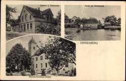 Postcard Vinnenberg Milte Warendorf, Gasthof J. Horstmann, Benediktinerinnen Kloster