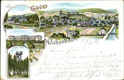 Litho Hilchenbach Nordrhein Westfalen, Stift Keppel, Seminar, Giller Turm