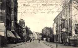 Postcard Rheine in Nordrhein Westfalen, Bahnhofstraße, Geschäfte