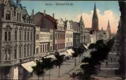 Postcard Herne im Ruhrgebiet Nordrhein Westfalen, Bahnhofstraße, Conrad Tack