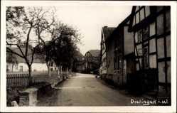 Foto Ak Dielingen Stemwede in Ostwestfalen Lippe, Straßenpartie, Häuser