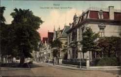 Postcard Herne im Ruhrgebiet Nordrhein Westfalen, Schulstraße, Kaiser Wilhelm Platz