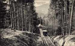 Postcard Baden Baden im Stadtkreis Baden Württemberg, Merkur Bahn, Seilbahn