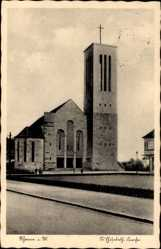 Postcard Rheine in Nordrhein Westfalen, Ansicht der St Elisabeth Kirche