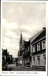 Postcard Billerbeck in Westfalen, Langestraße mit Blick zum Dom