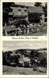 Postcard Hahn Waldbröl im Oberbergischen Kreis, Pension K Gran, Garten, Pool