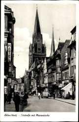 Postcard Ahlen im westfälischen Münsterland, Oststraße mit Blick zur Marienkirche
