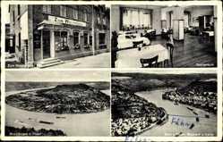 Postcard Filsen am Rhein, Gasthaus Zum Winzerhaus, Rheinbogen